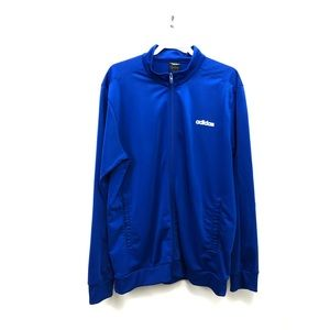 Blue Zip Front Men's Adidas Track Jacket XL
